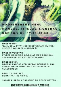 38 uge menu
