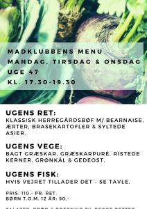 47 uge menu
